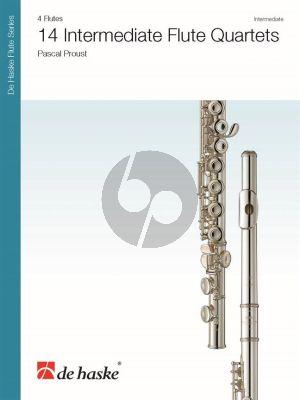 Proust 14 Intermediate Flute Quartets (Score/Parts)