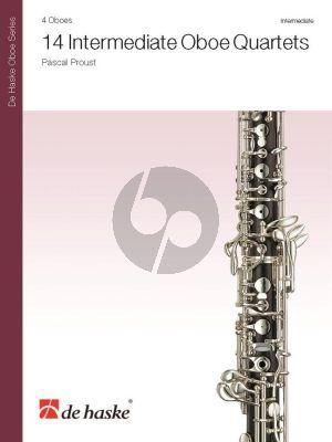 Proust 14 Intermediate Oboe Quartets (Score/Parts)