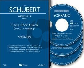 Schubert Messe Es-dur D.950 Soli-Chor Orchester Bass Chorstimme 3 CD's (Carus Choir Coach)