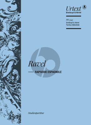 Ravel Rapsodie Espagnole Study Score (ed. Jean Francois Monnard)