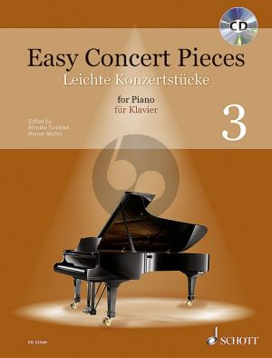 Easy Concert Pieces Vol.3 (41 Easy Pieces from 4 Centuries) (Bk-Cd) (edited by Monika Twelsiek and Rainer Mohrs)