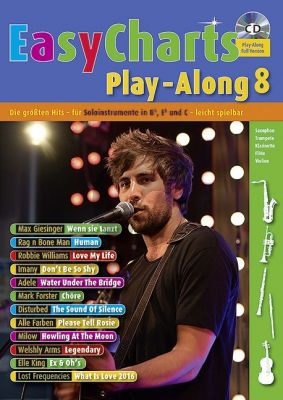 Easy Charts Play-Along Vol.8 (all C.-Bb.-Eb. Instr.) (Bk-Cd) (arr. Uwe Bye) (easy level)