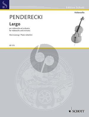 Penderecki Largo Violoncello and Orchestra (piano red.)