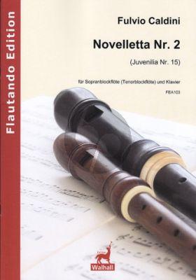 Caldini Novelletta No.2 (Juvenilia No.15) Sopran (oder Tenor) Blockflöte-Klavier
