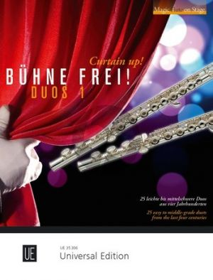 Buhne Frei! (Curtain Up!) Duos 1 (25 easy to middle-grade duets) 2 Flutes (arr. by Fereshteh Rahbari)