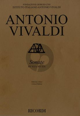 Vivaldi Sonata RV 815 en RV 816 Violin and Bc Score (Critical edition by Michael Talbot)