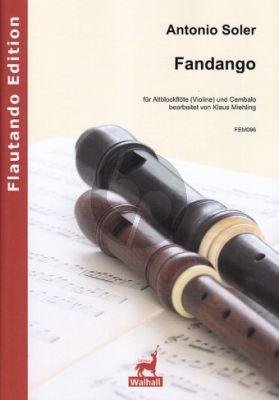 Soler Fandango Altblockflöte(Violine)-Cambalo (transcr. Klaus Miehling)