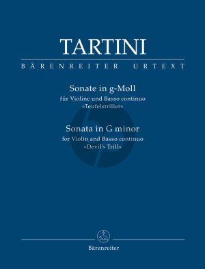 """Tartini Sonata G-minor """"Devil's Trill"""" Violin-Bc (edited by Agnese Pavanello) (Barenreiter-Urtext)"""