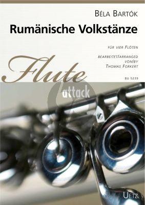 Bartok Rumänische Volkstänze 4 Flöten (Part./Stimmen) (arr. Thomas Forkert)
