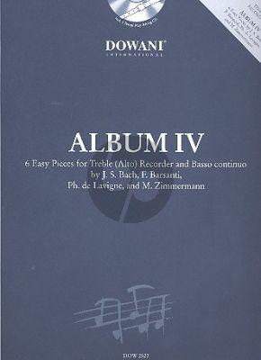 Album No.4 (6 Easy Pieces) Treble (Alto) Recorder and Basso continuo