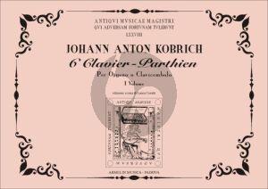 Kobrich 6 Clavier - Parthien Vol.1 Organ(Harpsichord) (edited by Laura Cerutti)