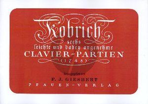 Kobrich 6 leichte Klavierpartien (F.J. Giesbert)