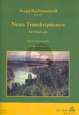 Rachmaninoff 9 Transkriptionen für Orgel (ped.) (transcr. Heinrich E. Grimm)