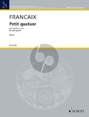 Francaix Petit Quatuor Oboe-Clarinet-Horn-Bassoon (Score-Parts) (transcr. Sebastian Manz)