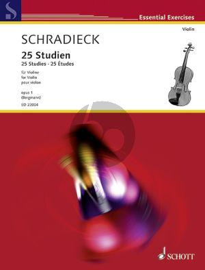 25 Studien Op.1 Violine