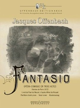 Fantasio (Comic opera in three acts and four scenes Paris version (1872) Vocal Score
