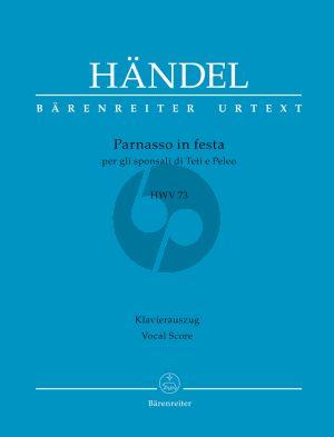 Handel Parnasso in festa per gli sponsali di Teti e Peleo HWV 73 Soli-Chor-Orchester Klavierauszug