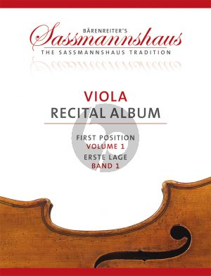 Viola Recital Album Vol.1 9 Recital Pieces in First Position for Viola and Piano or Two Violas (Christoph Sassmannshaus - Melissa Lusk)