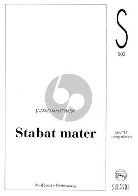 Mantyjarvi Stabat Mater Dolorosa SSATBB-String Orchestra Vocal Score