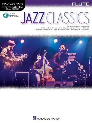 Jazz Classics Instrumental Play-Along for Flute (Book with Audio online)