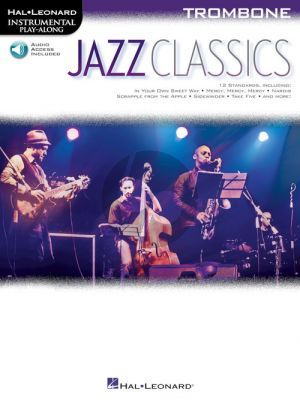 Jazz Classics Instrumental Play-Along for Trombone (Book with Audio online)