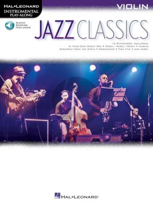Jazz Classics Instrumental Play-Along for Violin (Book with Audio online)