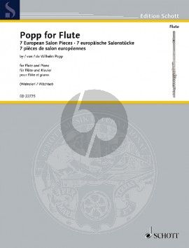 Popp for Flute (7 European Salon Pieces by Wilhelm Popp) Flute-Piano (Weinzierl-Wachter)