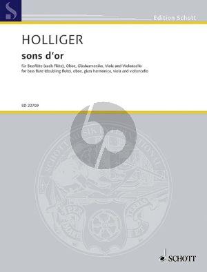 sons d'or Bass Flute -Oboe-Glass Harmonica-Viola and Violoncello Score