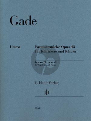Gade Fantasiestücke Op.43 Klarinette-Klavier (ed. Nicolai Pfeffer) (Henle-Urtext)