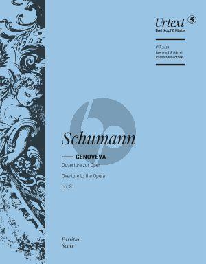 Genoveva Overture Op.81 Orchestra Full Score