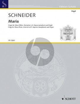 Maria - Elegy for Oboe (Flute/Clarinet.- Bb Sax.) and Organ
