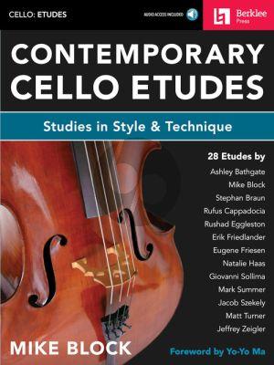 Block Contemporary Cello Etudes (Studies in Style & Technique) (Book with Audio online)