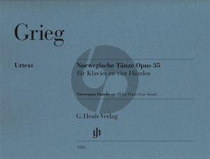 Grieg Norwegische Tänze Op.35 Klavier zu vier Händen (Einar Steen-Nøkleberg und Ernst-Günter Heinemann) (Henle-Urtext)