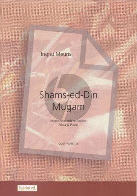Meuris Shames-ed-Din Mugam Mezzo Soprano(Baritone)-Viola-Piano (Score/Parts)