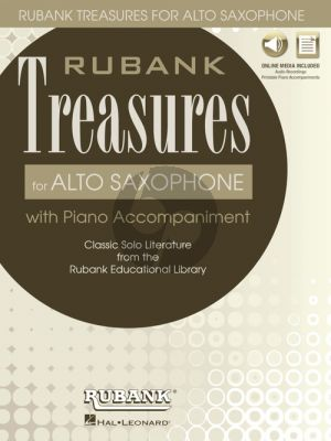 Rubank Treasures for Alto Saxophone (Book with Audio online) (stream or download) (edited by Himmie Voxman)