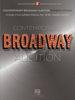Contemporary Broadway Audition: Women's Edition (Book with Audio online)