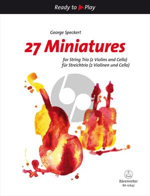 Speckert 27 Miniatures for String Trio (2 Violins and Cello) (Score/Parts)