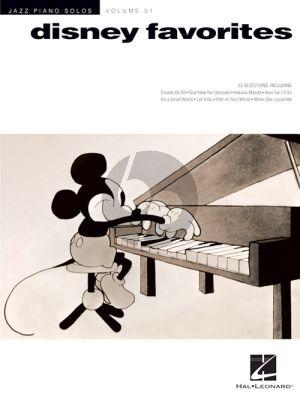 Disney Favorites (Jazz Piano Solos Series Volume 51)