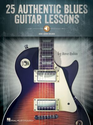 Rubin 25 Authentic Blues Guitar Lessons (Book with Audio online)