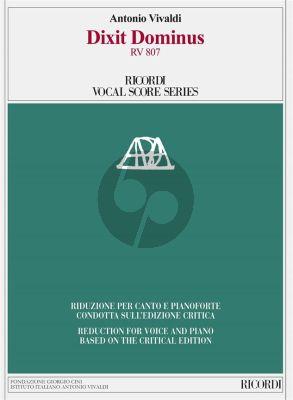 Vivaldi Dixit Dominus (Salmo 109) RV 807 SSATT soli-SATB-Orchestra Vocal Score (Michael Talbot)