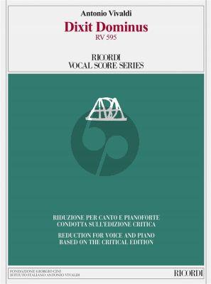 Vivaldi Dixit Dominus (Psalm 109) RV 595 Soli-Choir-Chamber Orchestra Vocal Score (Michael Talbot)