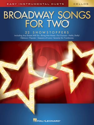 Broadway Songs for Two Cellos