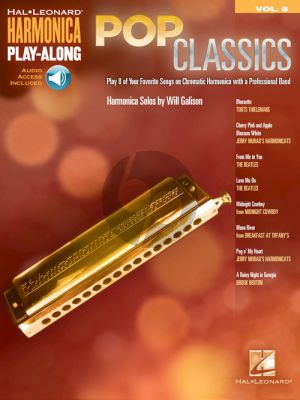 Pop Classics Harmonica Play-Along Volume 8 (Book with Audio online)
