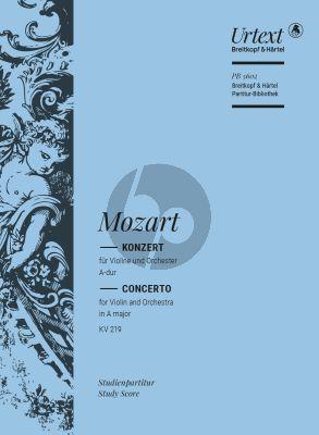 Mozart Konzert A-dur KV 219 Violine-Orchester Studienpartitur (Cliff Eisen)