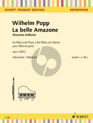 Popp La belle Amazone (Mazurka brillante) Op.250 No.2 Flute-Piano (Weinzierl-Wachter)