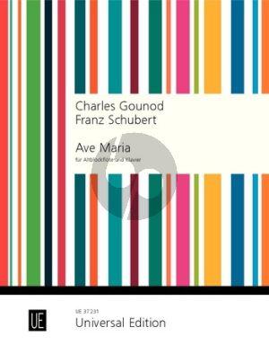 Ave Maria (Gounod and Schubert) Alto Recorder-Piano (transcr. by Sylvia Rosin)