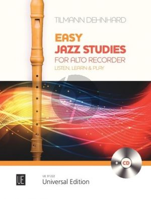 Dehnhard Easy Jazz Studies for Alto Recorder (Bk-Cd)