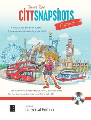 Rae City Snapshots for 1-2 Clarinets with CD or Piano Accompaniment (Bk-Cd)