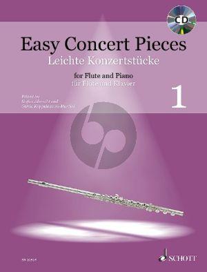 Easy Concert Pieces (Leichte Konzertstücke) Vol.1 Flute-Piano (Bk-Cd)