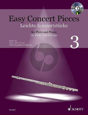 Easy Concert Pieces (Leichte Konzertstücke) Vol.3 Flute-Piano (Bk-Cd)